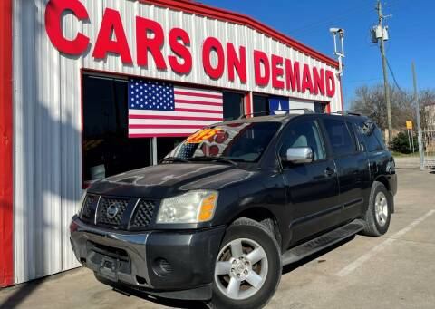 2004 Nissan Armada for sale at Cars On Demand 2 in Pasadena TX