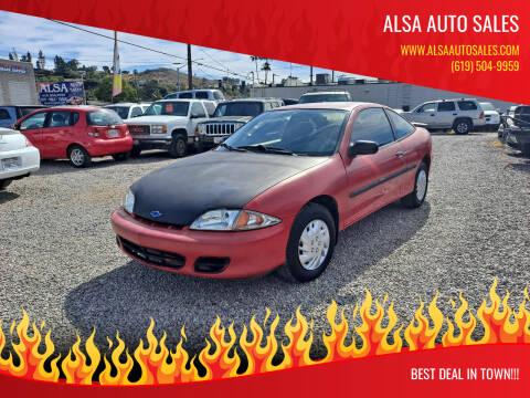 2002 Chevrolet Cavalier for sale at ALSA Auto Sales in El Cajon CA