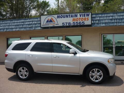 2013 Dodge Durango for sale at Mountain View Motors Inc in Colorado Springs CO