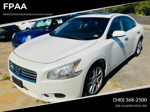 2013 Nissan Maxima for sale at FPAA in Fredericksburg VA