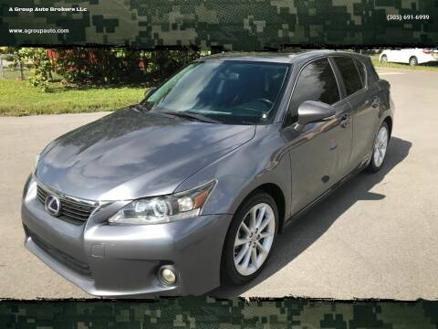 2012 Lexus CT 200h for sale at A Group Auto Brokers LLc in Opa-Locka FL