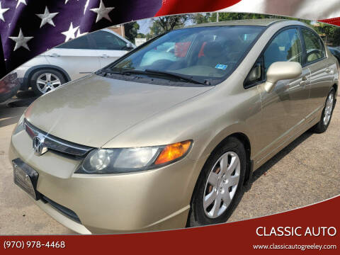 2007 Honda Civic for sale at Classic Auto in Greeley CO