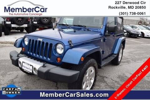 2009 Jeep Wrangler for sale at MemberCar in Rockville MD