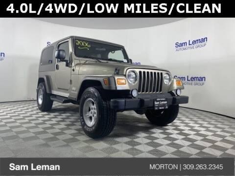 2006 Jeep Wrangler for sale at Sam Leman CDJRF Morton in Morton IL