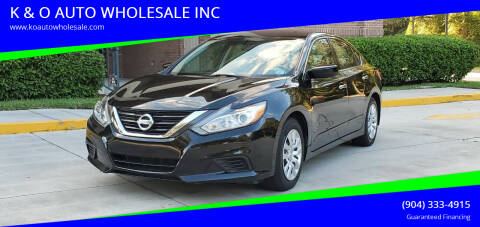2017 Nissan Altima for sale at K & O AUTO WHOLESALE INC in Jacksonville FL