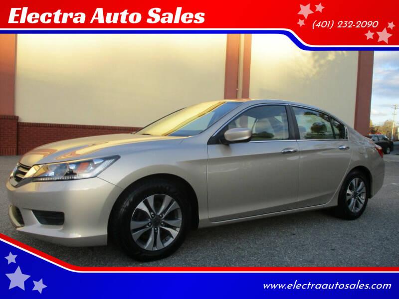 2013 Honda Accord for sale at Electra Auto Sales in Johnston RI