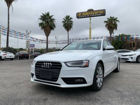 2013 Audi A4 for sale at A MOTORS SALES AND FINANCE - 6226 San Pedro Lot in San Antonio TX