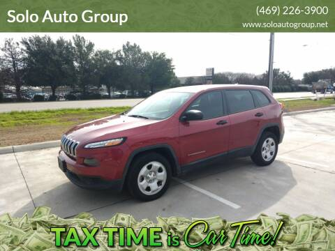 2014 Jeep Cherokee for sale at Solo Auto Group in Mckinney TX