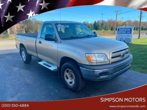 2005 Toyota Tundra for sale at SIMPSON MOTORS in Youngstown OH