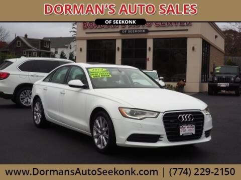 2014 Audi A6 for sale at DORMANS AUTO CENTER OF SEEKONK in Seekonk MA