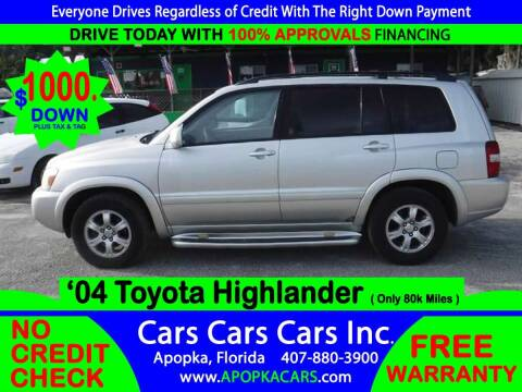 2004 Toyota Highlander for sale at CARS CARS CARS INC in Apopka FL