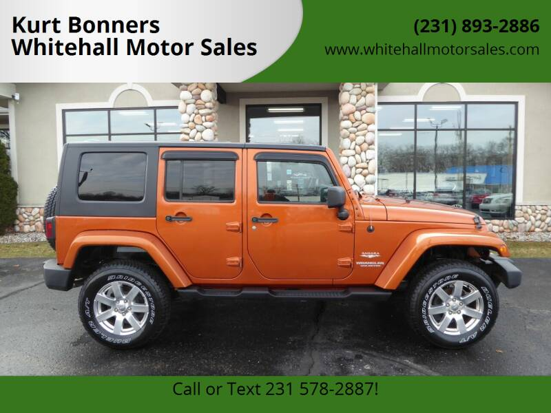 2010 Jeep Wrangler Unlimited for sale at Kurt Bonners Whitehall Motor Sales in Whitehall MI