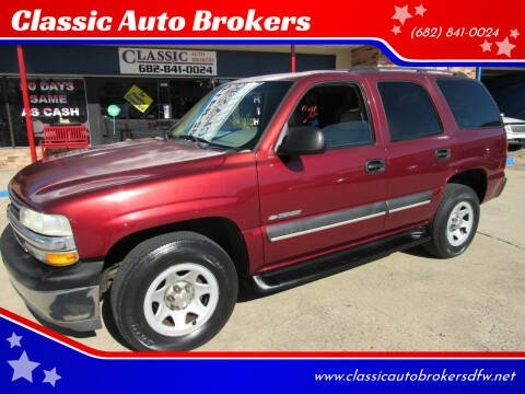 2003 Chevrolet Tahoe for sale at Classic Auto Brokers in Haltom City TX