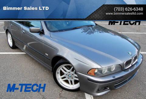 2003 BMW 5 Series for sale at Bimmer Sales LTD in Great Falls VA