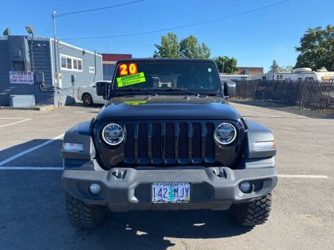 2020 Jeep Wrangler Unlimited for sale at Low Price Auto and Truck Sales, LLC in Salem OR