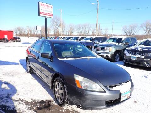 2005 Honda Accord for sale at Marty's Auto Sales in Savage MN