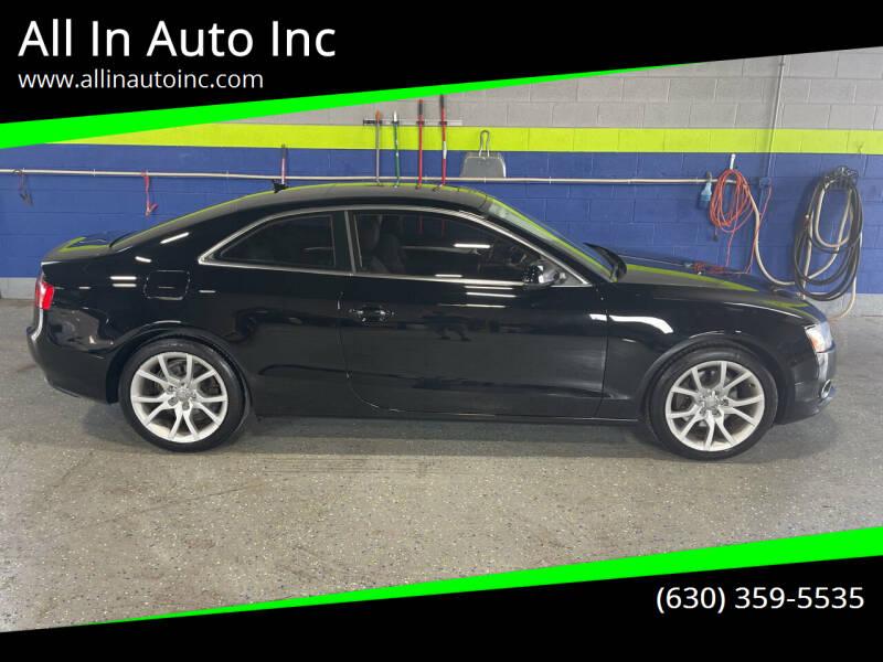 2010 Audi A5 for sale at All In Auto Inc in Addison IL