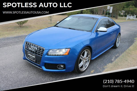 2011 Audi S5 for sale at SPOTLESS AUTO LLC in San Antonio TX