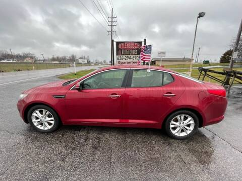 2013 Kia Optima for sale at MYLENBUSCH AUTO SOURCE in O` Fallon MO