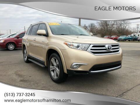 2012 Toyota Highlander for sale at Eagle Motors in Hamilton OH