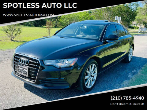 2014 Audi A6 for sale at SPOTLESS AUTO LLC in San Antonio TX
