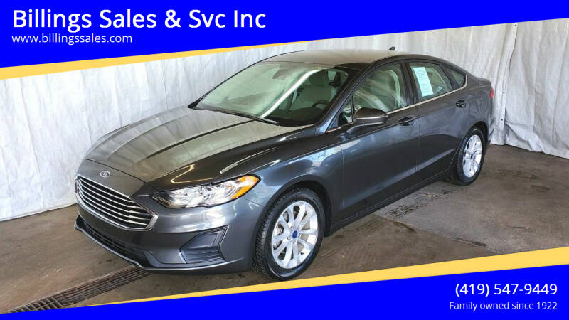 2019 Ford Fusion for sale at Billings Sales & Svc Inc in Clyde OH