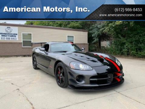 2009 Dodge Viper for sale at American Motors, Inc. in Farmington MN