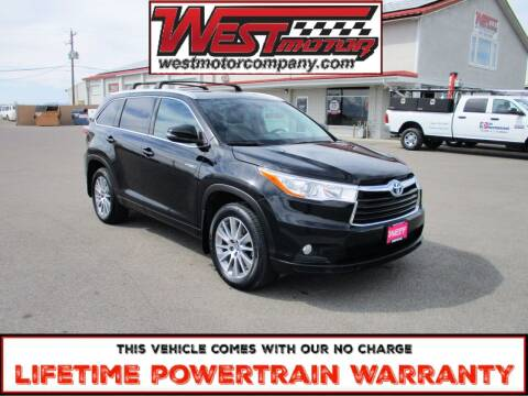 2016 Toyota Highlander Hybrid for sale at West Motor Company in Hyde Park UT