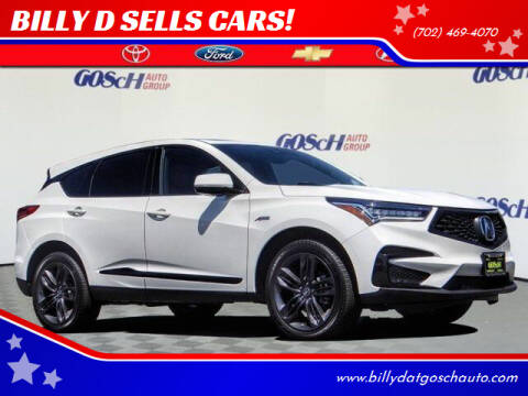 2019 Acura RDX for sale at BILLY D SELLS CARS! in Temecula CA
