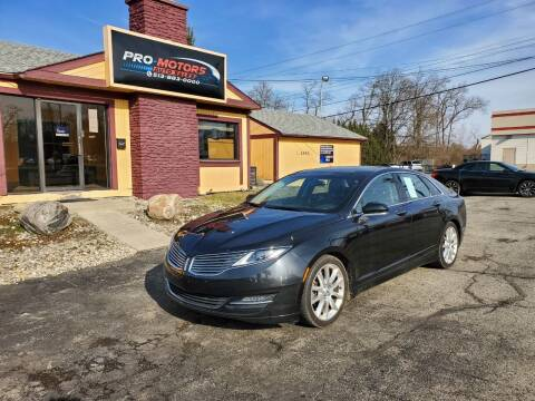 2013 Lincoln MKZ for sale at Pro Motors in Fairfield OH