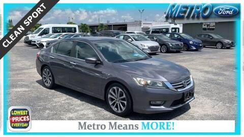 2013 Honda Accord for sale at Your First Vehicle in Miami FL