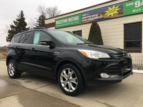 2013 Ford Escape for sale at MILESTONE MOTORS in Chesterfield MI