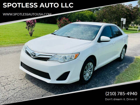 2014 Toyota Camry for sale at SPOTLESS AUTO LLC in San Antonio TX