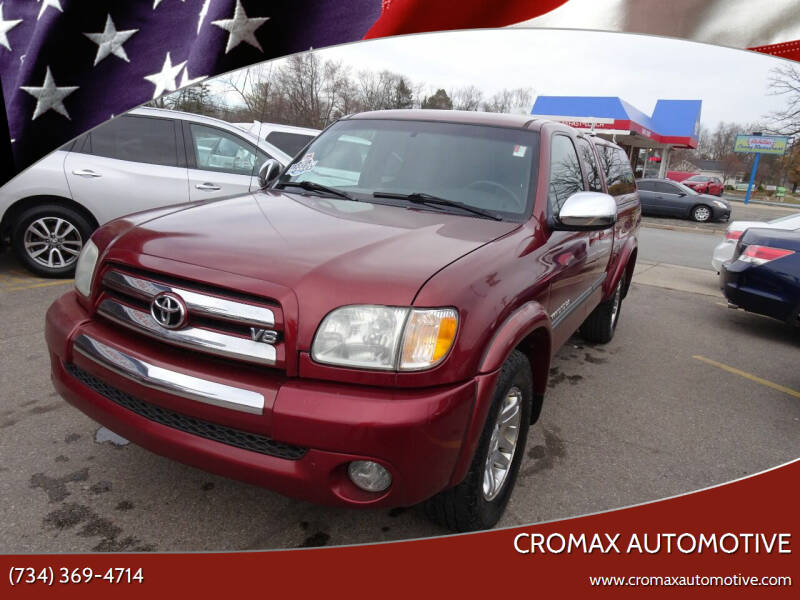 2003 Toyota Tundra for sale at Cromax Automotive in Ann Arbor MI