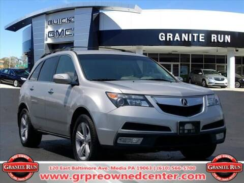 2012 Acura MDX for sale at GRANITE RUN PRE OWNED CAR AND TRUCK OUTLET in Media PA
