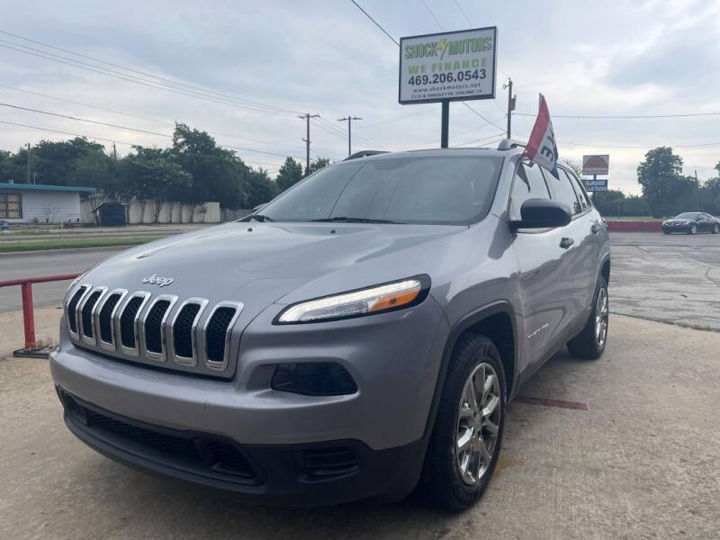 2016 Jeep Cherokee for sale at Shock Motors in Garland TX