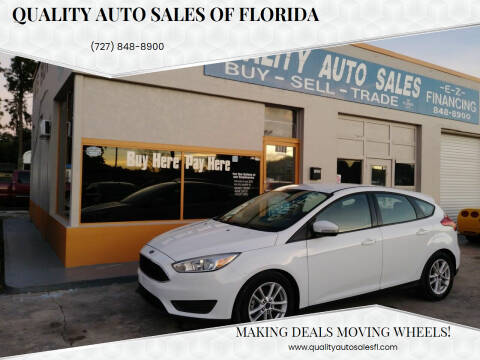 2015 Ford Focus for sale at QUALITY AUTO SALES OF FLORIDA in New Port Richey FL
