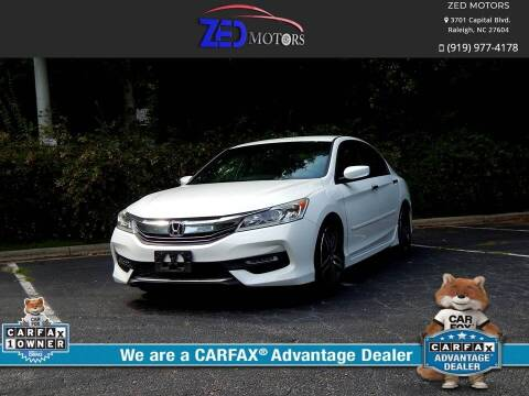 2016 Honda Accord for sale at Zed Motors in Raleigh NC
