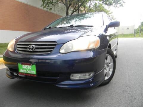 2003 Toyota Corolla for sale at Dasto Auto Sales in Manassas VA
