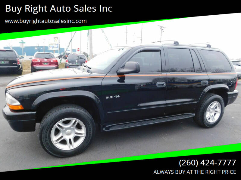 2002 Dodge Durango for sale at Buy Right Auto Sales Inc in Fort Wayne IN