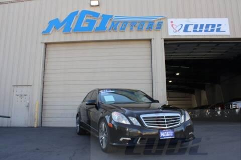 2011 Mercedes-Benz E-Class for sale at MGI Motors in Sacramento CA