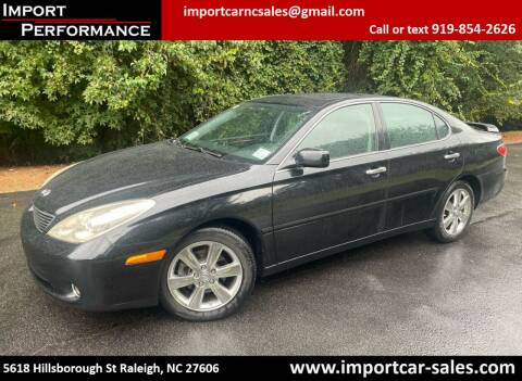 2005 Lexus ES 330 for sale at Import Performance Sales in Raleigh NC