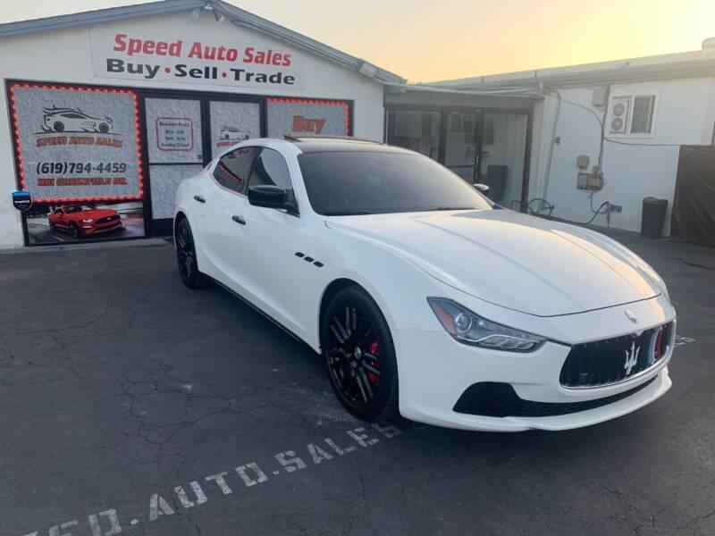 2015 Maserati Ghibli for sale at Speed Auto Sales in El Cajon CA