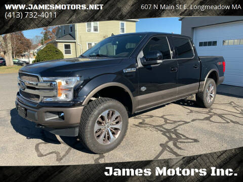 2019 Ford F-150 for sale at James Motors Inc. in East Longmeadow MA