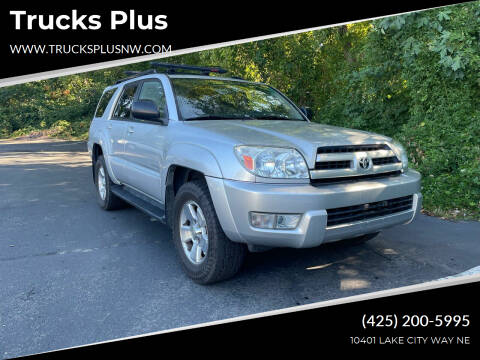 2004 Toyota 4Runner for sale at Trucks Plus in Seattle WA