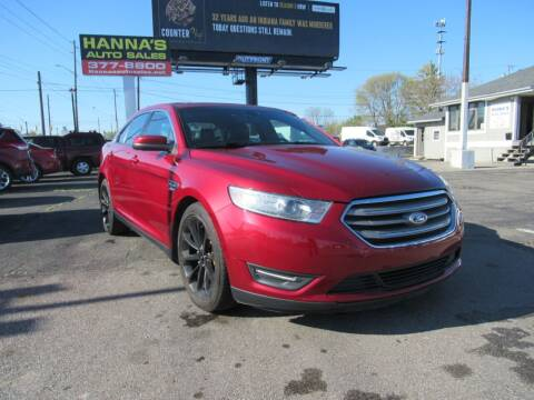2014 Ford Taurus for sale at Hanna's Auto Sales in Indianapolis IN