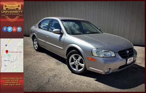 2000 Nissan Maxima for sale at University Auto Sales in Cedar City UT