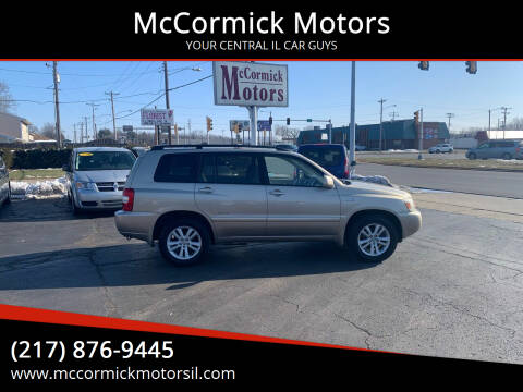 2007 Toyota Highlander Hybrid for sale at McCormick Motors in Decatur IL