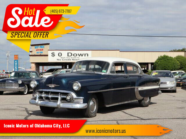 1953 Chevrolet Bel Air for sale at Iconic Motors of Oklahoma City, LLC in Oklahoma City OK