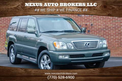 2006 Lexus LX 470 for sale at Nexus Auto Brokers LLC in Marietta GA